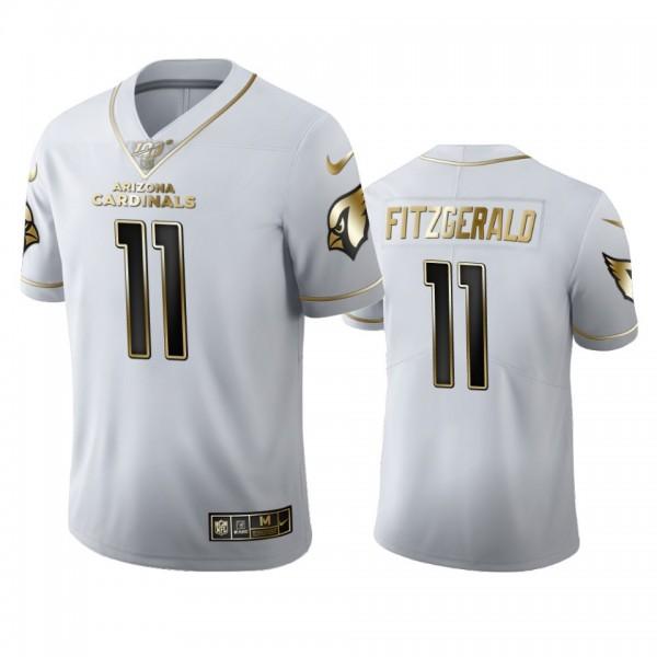 Arizona Cardinals #11 Larry Fitzgerald Men's Nike White Golden Edition Vapor Limited NFL 100 Jersey