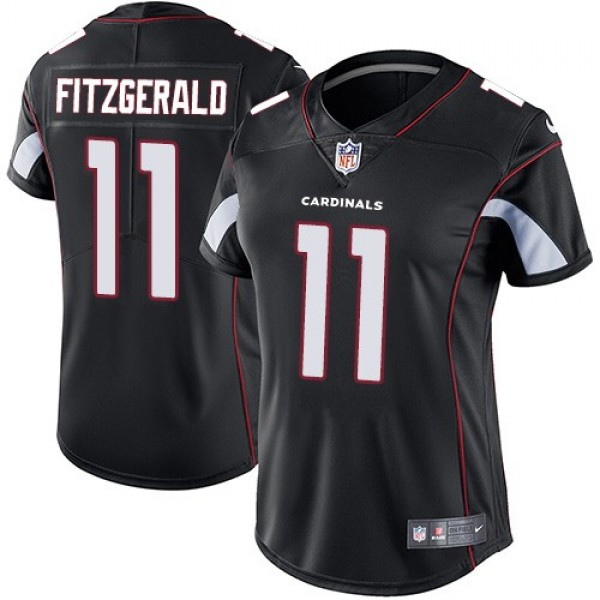 Women's Cardinals #11 Larry Fitzgerald Black Alternate Stitched NFL Vapor Untouchable Limited Jersey