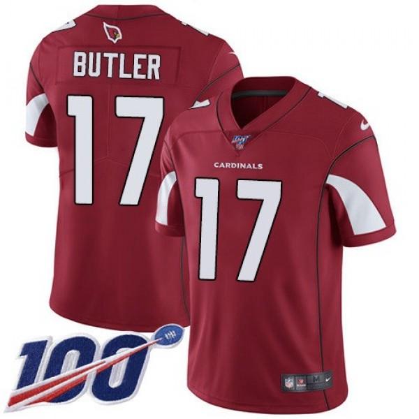 Nike Cardinals #17 Hakeem Butler Red Team Color Men's Stitched NFL 100th Season Vapor Limited Jersey
