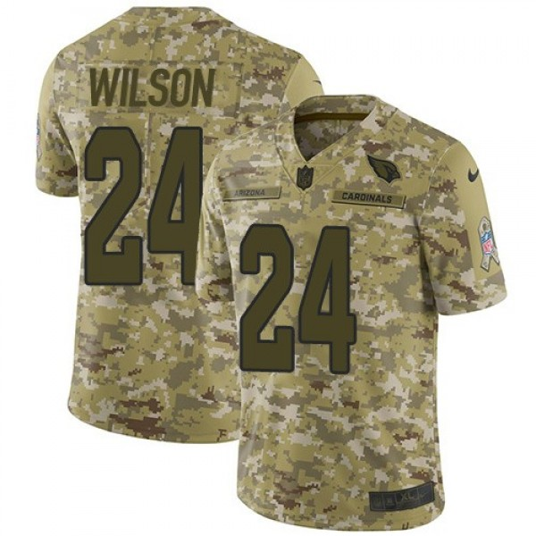 Nike Cardinals #24 Adrian Wilson Camo Men's Stitched NFL Limited 2018 Salute to Service Jersey