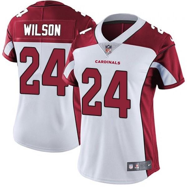 Women's Cardinals #24 Adrian Wilson White Stitched NFL Vapor Untouchable Limited Jersey