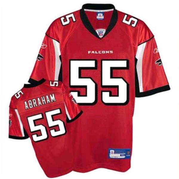Falcons #55 John Abraham Red Stitched NFL Jersey