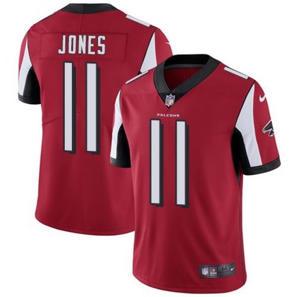 Nike Falcons #11 Julio Jones Red Team Color Men's Stitched NFL Vapor Untouchable Limited Jersey