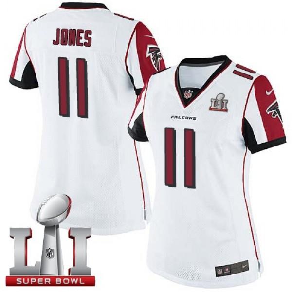 Women's Falcons #11 Julio Jones White Super Bowl LI 51 Stitched NFL Limited Jersey