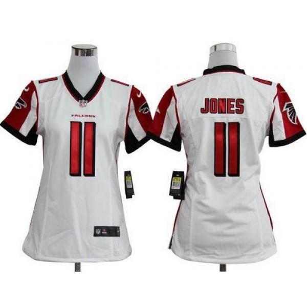 Women's Falcons #11 Julio Jones White Stitched NFL Elite Jersey