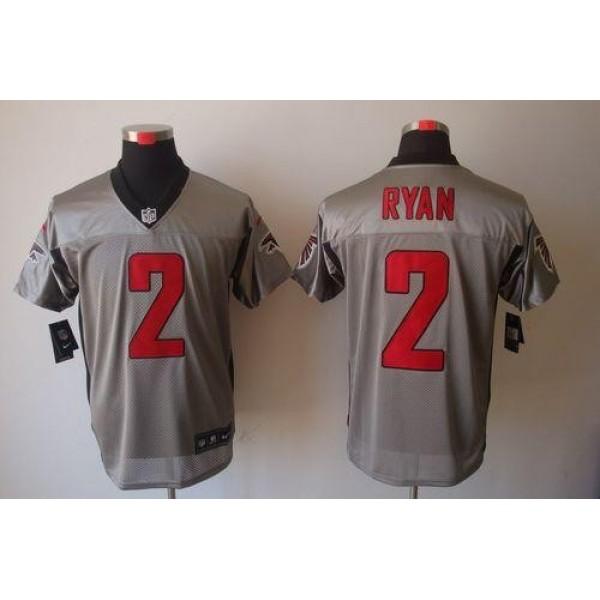 Nike Falcons #2 Matt Ryan Grey Shadow Men's Stitched NFL Elite Jersey
