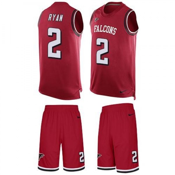 Nike Falcons #2 Matt Ryan Red Team Color Men's Stitched NFL Limited Tank Top Suit Jersey
