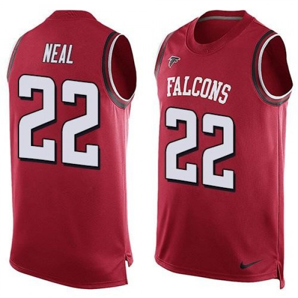 Nike Falcons #22 Keanu Neal Red Team Color Men's Stitched NFL Limited Tank Top Jersey