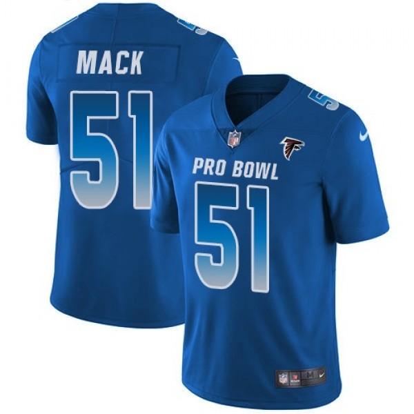 Women's Falcons #51 Alex Mack Royal Stitched NFL Limited NFC 2018 Pro Bowl Jersey