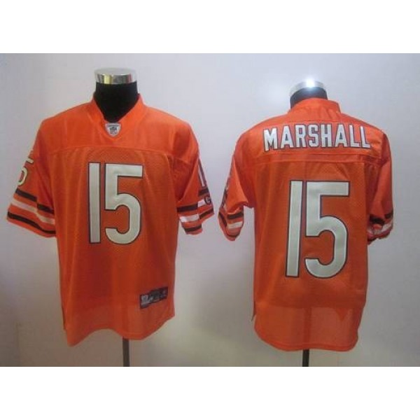 Bears #15 Brandon Marshall Orange Stitched NFL Jersey