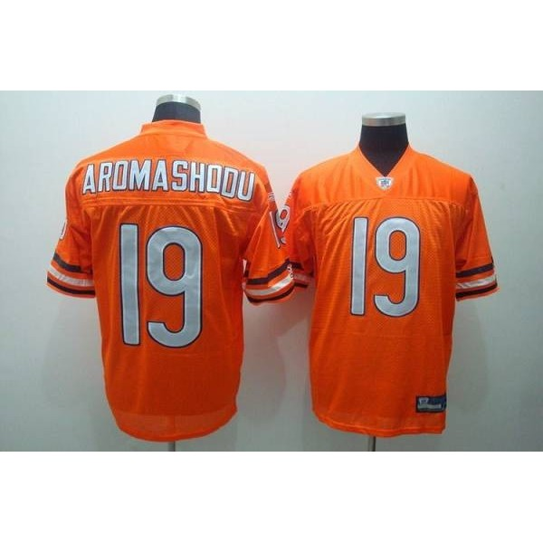 Bears #19 Devin Aromashodu Orange Stitched NFL Jersey
