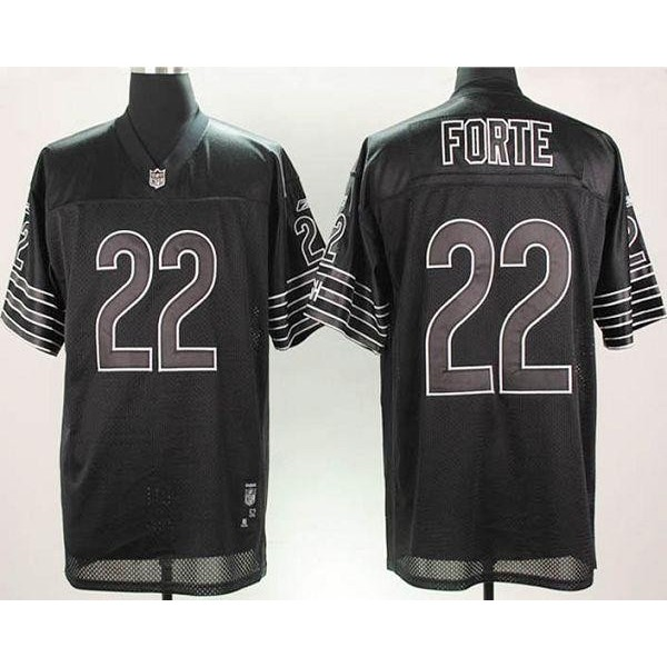 Bears #22 Matt Forte Black Shadow Stitched NFL Jersey