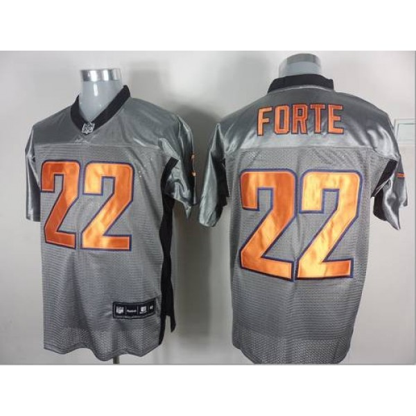 Bears #22 Matt Forte Grey Shadow Stitched NFL Jersey