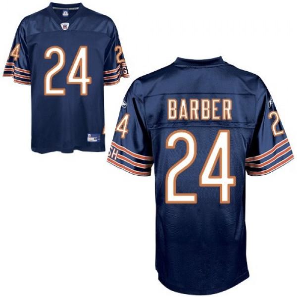 Bears #24 Marion Barber Blue Stitched NFL Jersey