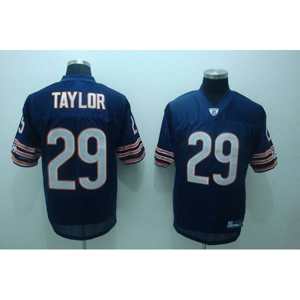 Bears #29 Chester Taylor Blue Stitched NFL Jersey