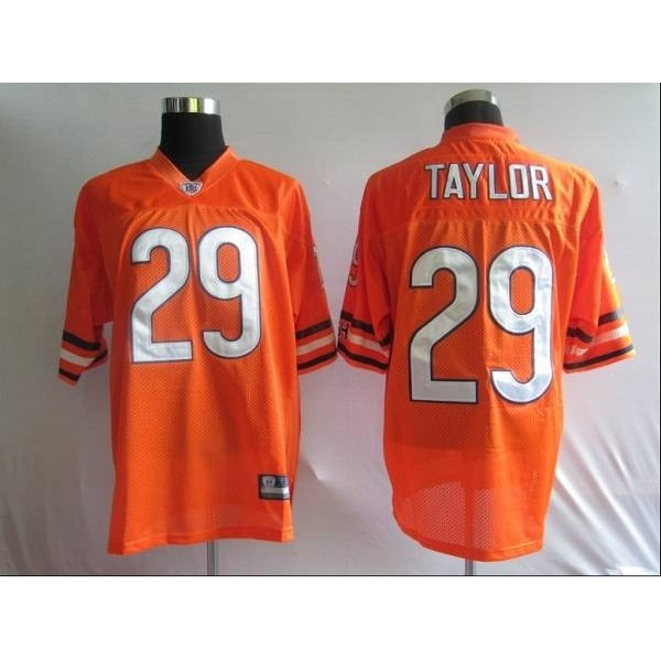 Bears #29 Chester Taylor Orange Stitched NFL Jersey