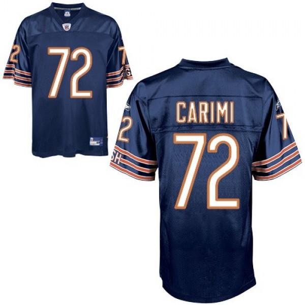 Bears #72 Gabe Carimi Blue Stitched NFL Jersey
