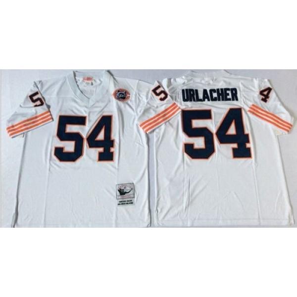 Mitchell&Ness Bears #54 Brian Urlacher White Big No. Throwback Stitched NFL Jersey