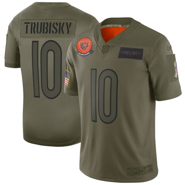 Nike Bears #10 Mitchell Trubisky Camo Men's Stitched NFL Limited 2019 Salute To Service Jersey
