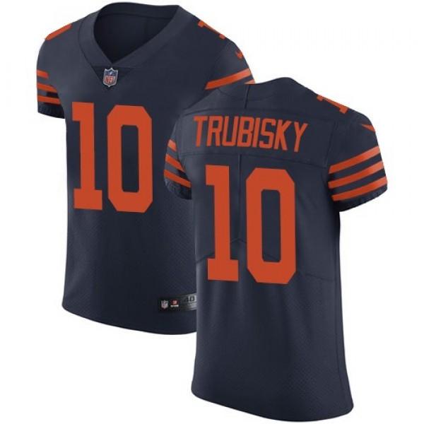 Nike Bears #10 Mitchell Trubisky Navy Blue Alternate Men's Stitched NFL Vapor Untouchable Elite Jersey