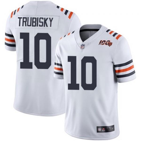 Nike Bears #10 Mitchell Trubisky White Alternate Men's Stitched NFL Vapor Untouchable Limited 100th Season Jersey