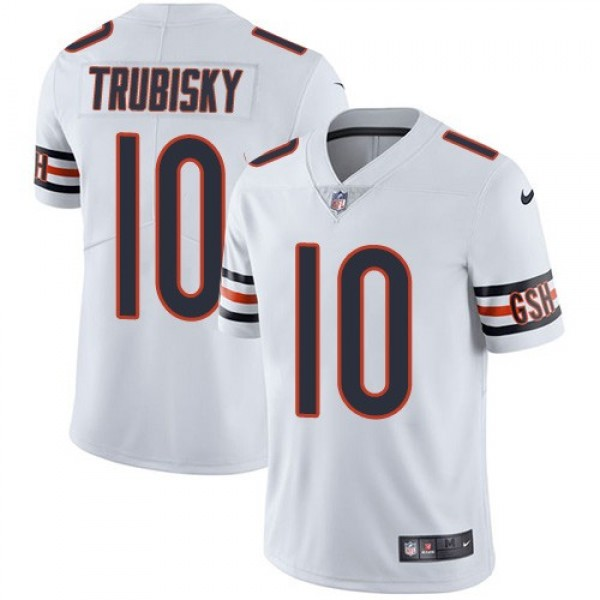 Nike Bears #10 Mitchell Trubisky White Men's Stitched NFL Vapor Untouchable Limited Jersey