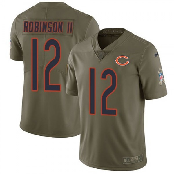 Nike Bears #12 Allen Robinson II Olive Men's Stitched NFL Limited 2017 Salute To Service Jersey