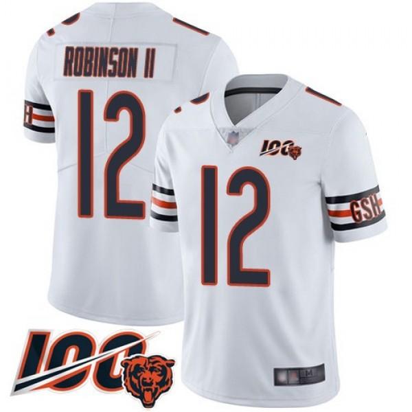 Nike Bears #12 Allen Robinson II White Men's Stitched NFL 100th Season Vapor Limited Jersey