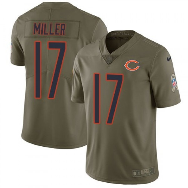 Nike Bears #17 Anthony Miller Olive Men's Stitched NFL Limited 2017 Salute To Service Jersey