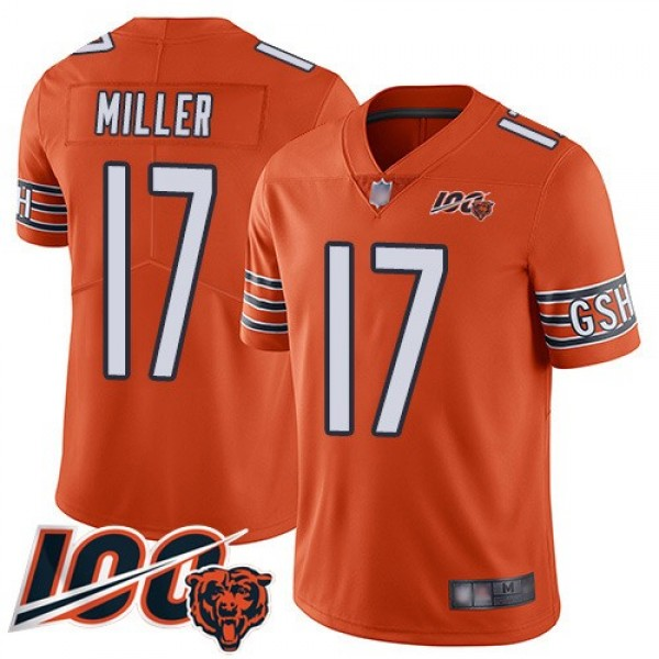 Nike Bears #17 Anthony Miller Orange Men's Stitched NFL Limited Rush 100th Season Jersey