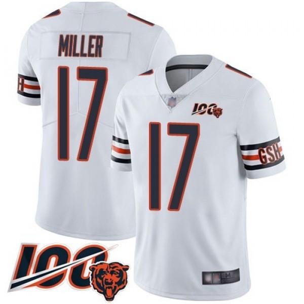 Nike Bears #17 Anthony Miller White Men's Stitched NFL 100th Season Vapor Limited Jersey