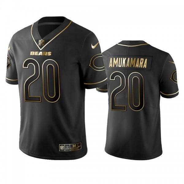 Nike Bears #20 Prince Amukamara Black Golden Limited Edition Stitched NFL Jersey