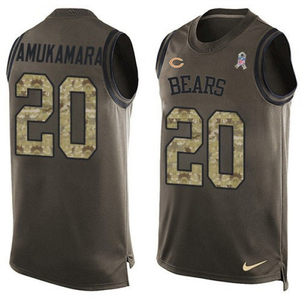 Nike Bears #20 Prince Amukamara Green Men's Stitched NFL Limited Salute To Service Tank Top Jersey