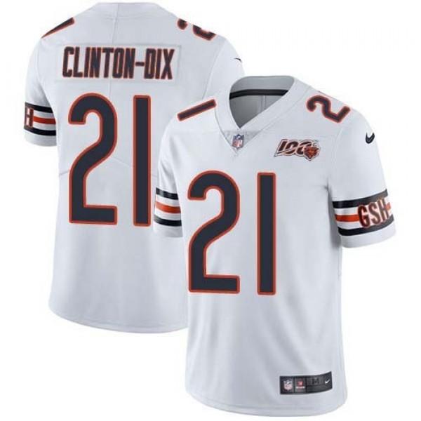 Nike Bears #21 Ha Ha Clinton-Dix White Men's 100th Season Stitched NFL Vapor Untouchable Limited Jersey