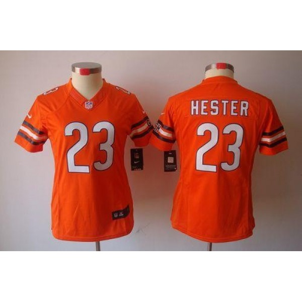 Women's Bears #23 Devin Hester Orange Alternate Stitched NFL Limited Jersey