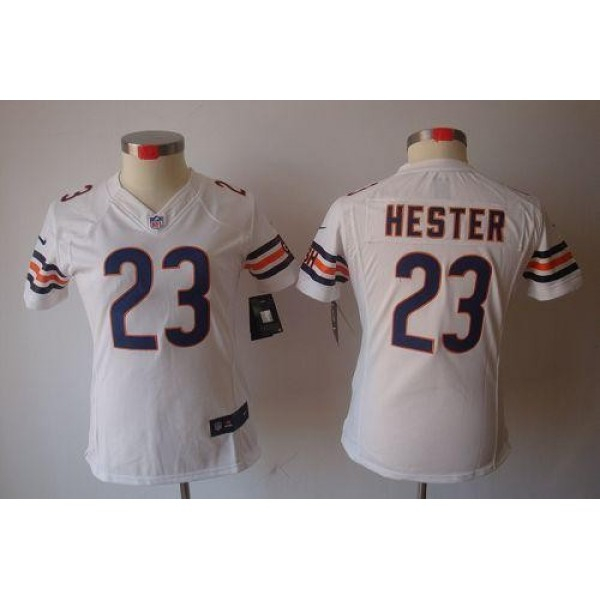 Women's Bears #23 Devin Hester White Stitched NFL Limited Jersey