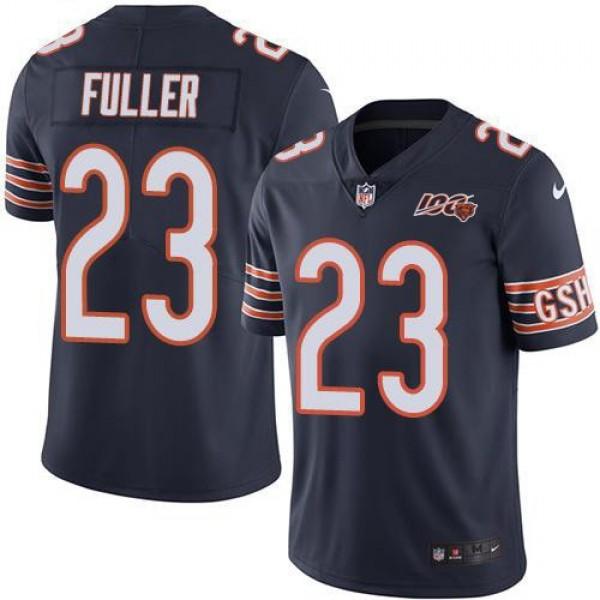 Nike Bears #23 Kyle Fuller Navy Blue Team Color Men's 100th Season Stitched NFL Vapor Untouchable Limited Jersey