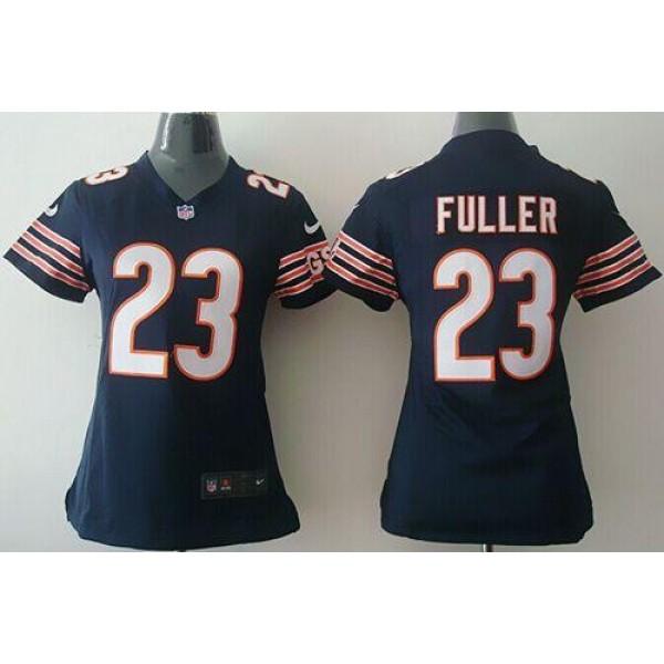 Women's Bears #23 Kyle Fuller Navy Blue Team Color Stitched NFL Elite Jersey