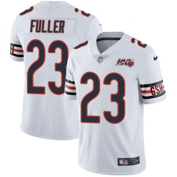 Nike Bears #23 Kyle Fuller White Men's 100th Season Stitched NFL Vapor Untouchable Limited Jersey