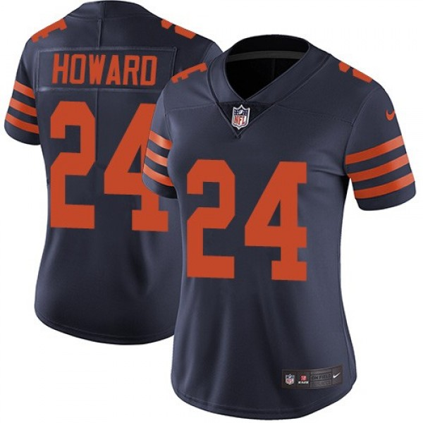 Women's Bears #24 Jordan Howard Navy Blue Alternate Stitched NFL Vapor Untouchable Limited Jersey