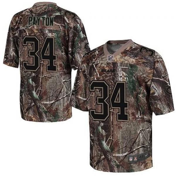 Nike Bears #34 Walter Payton Camo Men's Stitched NFL Realtree Elite Jersey