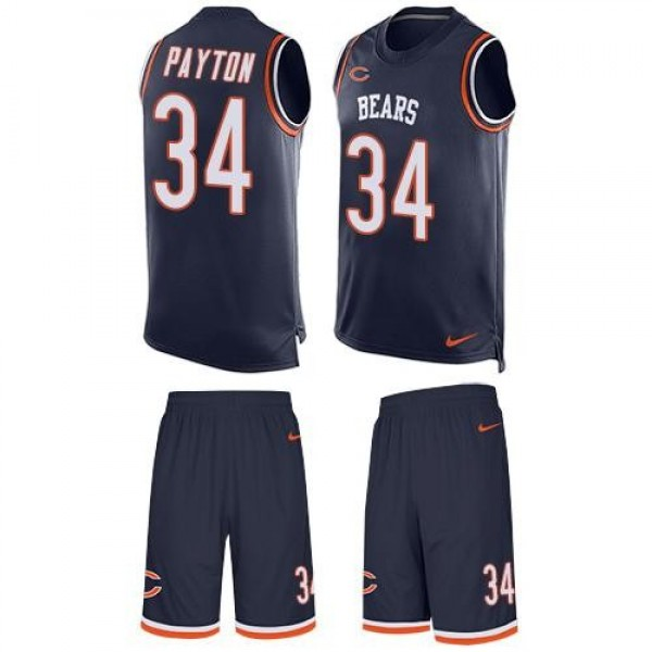 Nike Bears #34 Walter Payton Navy Blue Team Color Men's Stitched NFL Limited Tank Top Suit Jersey
