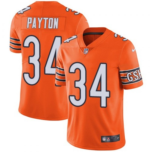 Nike Bears #34 Walter Payton Orange Men's Stitched NFL Limited Rush Jersey
