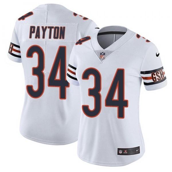 Women's Bears #34 Walter Payton White Stitched NFL Vapor Untouchable Limited Jersey