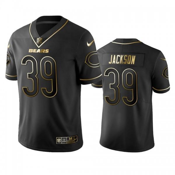 Nike Bears #39 Eddie Jackson Black Golden Limited Edition Stitched NFL Jersey