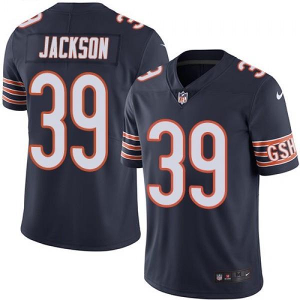 Nike Bears #39 Eddie Jackson Navy Blue Team Color Men's Stitched NFL Vapor Untouchable Limited Jersey