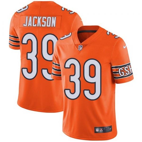 Nike Bears #39 Eddie Jackson Orange Men's Stitched NFL Limited Rush Jersey