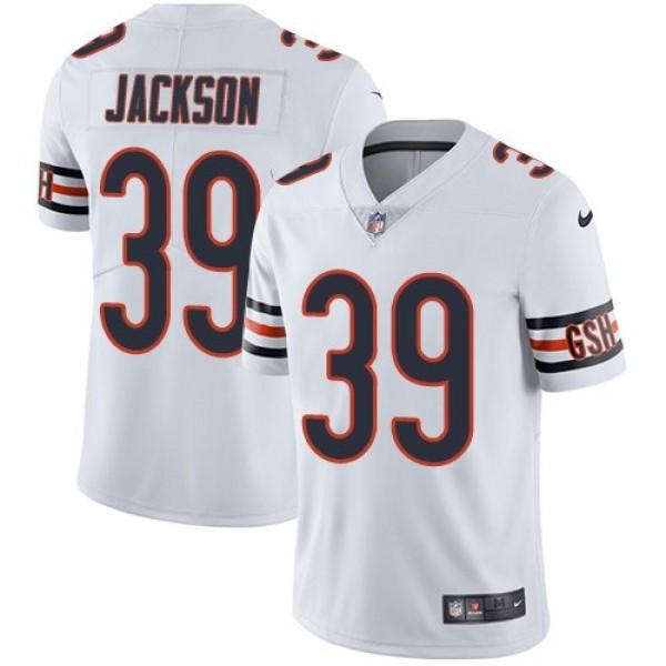 Nike Bears #39 Eddie Jackson White Men's Stitched NFL Vapor Untouchable Limited Jersey