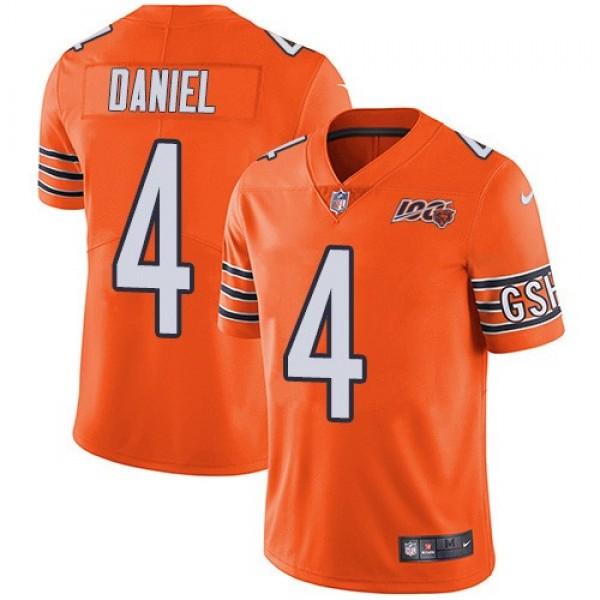 Nike Bears #4 Chase Daniel Orange Men's 100th Season Stitched NFL Limited Rush Jersey