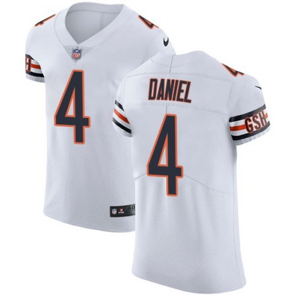 Nike Bears #4 Chase Daniel White Men's Stitched NFL Vapor Untouchable Elite Jersey